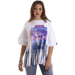Kleidung Damen T-Shirts Versace B2HVB7V730384003 Weiß