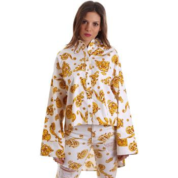 Kleidung Damen Hemden Versace B0HVB624S0771003 Weiß