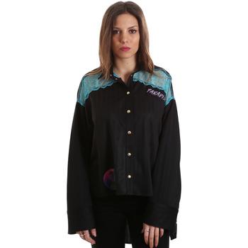 Kleidung Damen Hemden Versace B0HVB60310623899 Schwarz