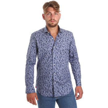 Kleidung Herren Langärmelige Hemden Betwoin D066 6635535 Blau