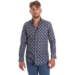 Kleidung Herren Langärmelige Hemden Betwoin DB111 Blau