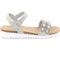 Schuhe Damen Sandalen / Sandaletten Grunland SB1582 Silber