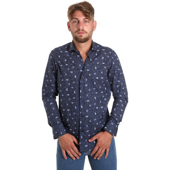 Kleidung Herren Langärmelige Hemden Betwoin D092 6635535 Blau