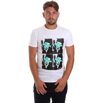 Kleidung Herren T-Shirts Antony Morato MMKS01743 FA120001 Weiß