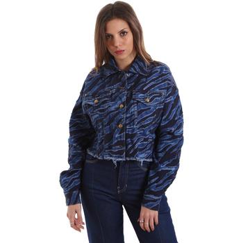 Kleidung Damen Jeansjacken Versace C0HVB939AQC5Q904 Blau