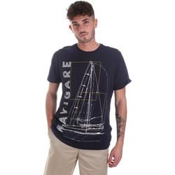 Kleidung Herren T-Shirts Navigare NV31109 Blau
