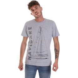 Kleidung Herren T-Shirts Navigare NV31109 Grau