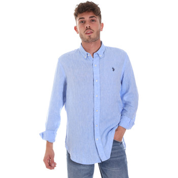 Kleidung Herren Langärmelige Hemden U.S Polo Assn. 58574 50816 Blau