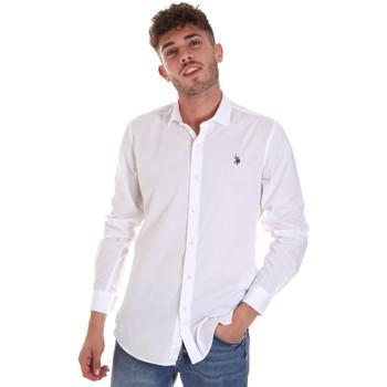 Kleidung Herren Langärmelige Hemden U.S Polo Assn. 58835 50655 Weiß