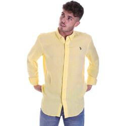 Kleidung Herren Langärmelige Hemden U.S Polo Assn. 58574 50816 Gelb