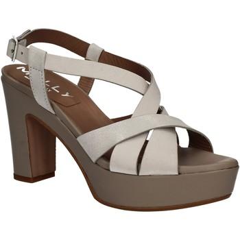 Schuhe Damen Sandalen / Sandaletten Mally 5744 Silber