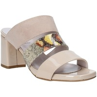 Schuhe Damen Pantoffel Grace Shoes 116003 Beige