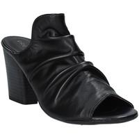 Schuhe Damen Pantoffel Pregunta PF3286 Schwarz