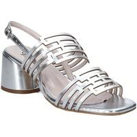 Schuhe Damen Sandalen / Sandaletten Grace Shoes 123001 Silber