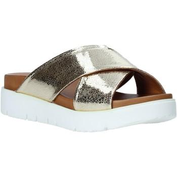 Schuhe Damen Pantoffel Bueno Shoes 9N3408 Gold