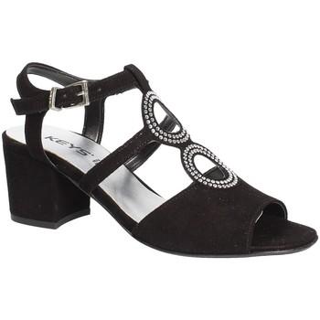 Schuhe Damen Sandalen / Sandaletten Keys 5713 Schwarz