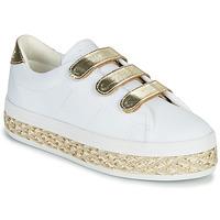 Schuhe Damen Sneaker Low No Name MALIBU STRAPS Weiss / Gold