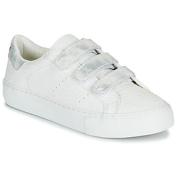 Schuhe Damen Sneaker Low No Name ARCADE STRAPS Weiss / Silbern