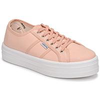 Schuhe Damen Sneaker Low Victoria BARCELONA LONA Rose