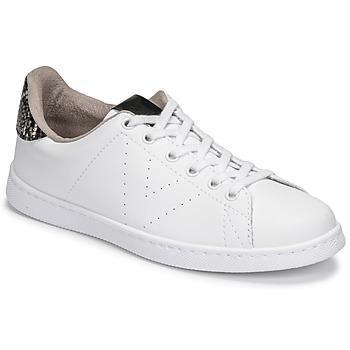 Schuhe Damen Sneaker Low Victoria TENIS VEGANA SERPIENTE Weiss / Schwarz