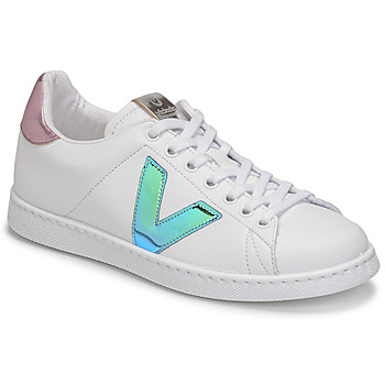 Schuhe Damen Sneaker Low Victoria TENIS VEGANA VINI Weiss / Blau / Rose