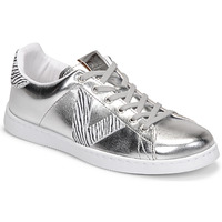 Schuhe Damen Sneaker Low Victoria TENIS METALIZADO Silbern
