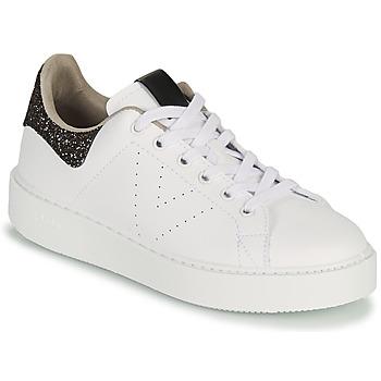Schuhe Damen Sneaker Low Victoria UTOPIA GLITTER Weiss / Braun