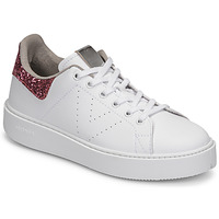 Schuhe Damen Sneaker Low Victoria UTOPIA GLITTER Weiss / Rose