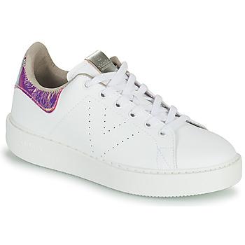 Schuhe Damen Sneaker Low Victoria UTOPIA HOLOG Weiss