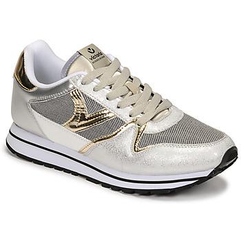 Schuhe Damen Sneaker Low Victoria COMETA REJILLA Silbern / Gold