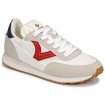 Schuhe Damen Sneaker Low Victoria ASTRO NYLON Weiss / Rot / Blau