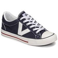 Schuhe Sneaker Low Victoria TRIBU LONA CONTRASTE Blau