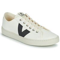 Schuhe Damen Sneaker Low Victoria BERLIN LONA GRUESA Weiss / Blau