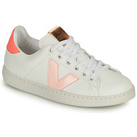 Schuhe Mädchen Sneaker Low Victoria TENIS VEGANA CONTRASTE Weiss / Rose