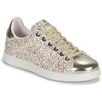Schuhe Mädchen Sneaker Low Victoria TENIS GLITTER Silbern