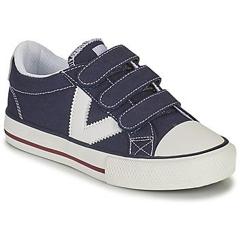 Schuhe Jungen Sneaker Low Victoria TRIBU TIRAS LONA Blau