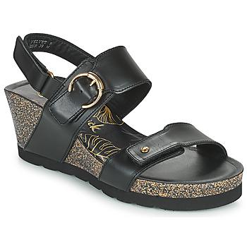 Schuhe Damen Sandalen / Sandaletten Panama Jack VELVET Schwarz