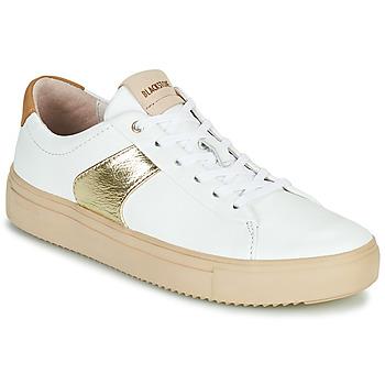 Schuhe Damen Sneaker Low Blackstone VL57 Weiss