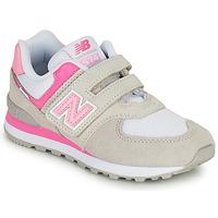 Schuhe Mädchen Sneaker Low New Balance 574 Grau / Rose