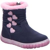 Schuhe Mädchen Babyschuhe Salamander Maedchen jola navy suede tex 33-14690-42 blau
