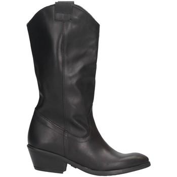 Schuhe Damen Klassische Stiefel Made In Italia 003 Texano Frau SCHWARZ SCHWARZ