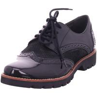 Schuhe Damen Derby-Schuhe & Richelieu Jana Damen Schnürer BLACK STRUCTUR