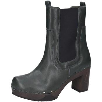 Schuhe Damen Stiefel Softclox Stiefeletten Laurentia Chelsea Leder S3582-02 grün