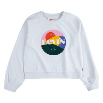 Kleidung Mädchen Sweatshirts Levi's 3ED410-001 Weiss