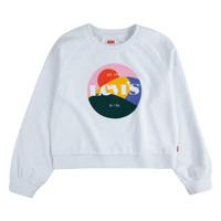 Kleidung Mädchen Sweatshirts Levi's 4ED410-001 Weiss