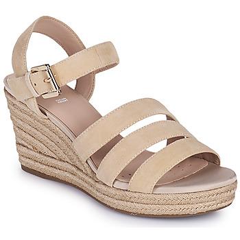 Schuhe Damen Sandalen / Sandaletten Geox D SOLEIL C Beige
