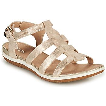 Schuhe Damen Sandalen / Sandaletten Geox D SANDAL VEGA A Gold