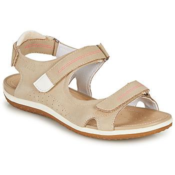 Schuhe Damen Sandalen / Sandaletten Geox D SANDAL VEGA A Beige
