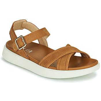 Schuhe Damen Sandalen / Sandaletten Geox D XAND 2S B Cognac