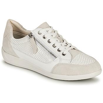 Schuhe Damen Sneaker Low Geox D MYRIA A Weiss